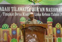 Tokoh masyarakat Klambir Lima juga Anggota DPRD Sumut, Wagirin Arman saat menyampaikan sambutan.
